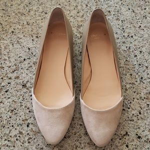 Cole Haan Nude Grand OS Suede/Leather Flat